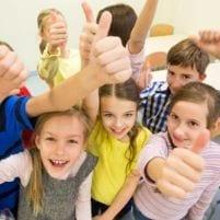 Happy School Pupils