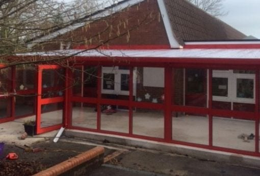 Canopy with sides we made for Hilltop Primary School