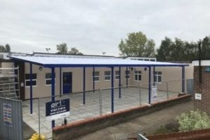 Canopy we designed for Newmarket Academy