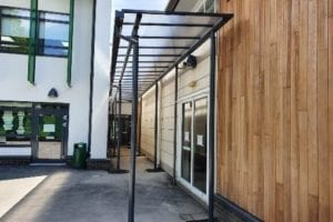 Walkway canopy we fitted at Sheringdale Primary School