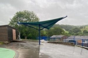 Canopy we made for Wood Bank Special School