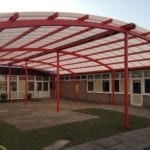 Play area canopy we made for Woodlands Primary School