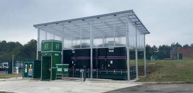 Bespoke canopy we fitted at Strensham Water Treatment Works