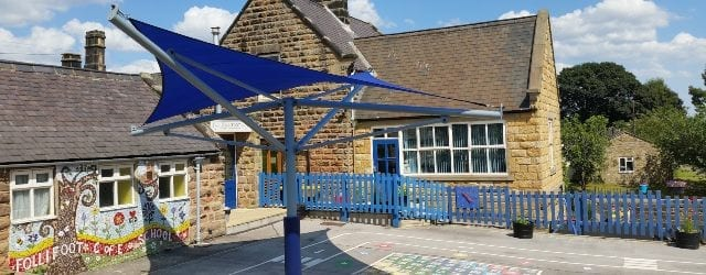 Blue Fabric Playground Canopy