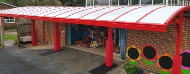 Playground canopy we made for Shelton Infants School