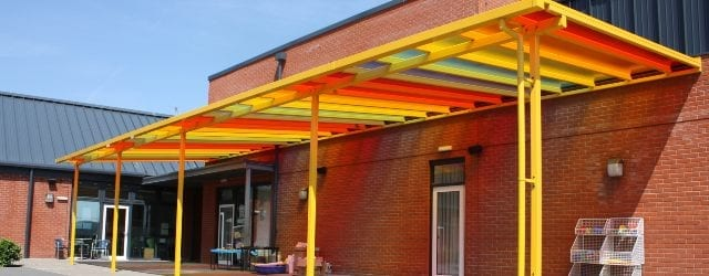 Colourful Polycarbonate Roof Canopy