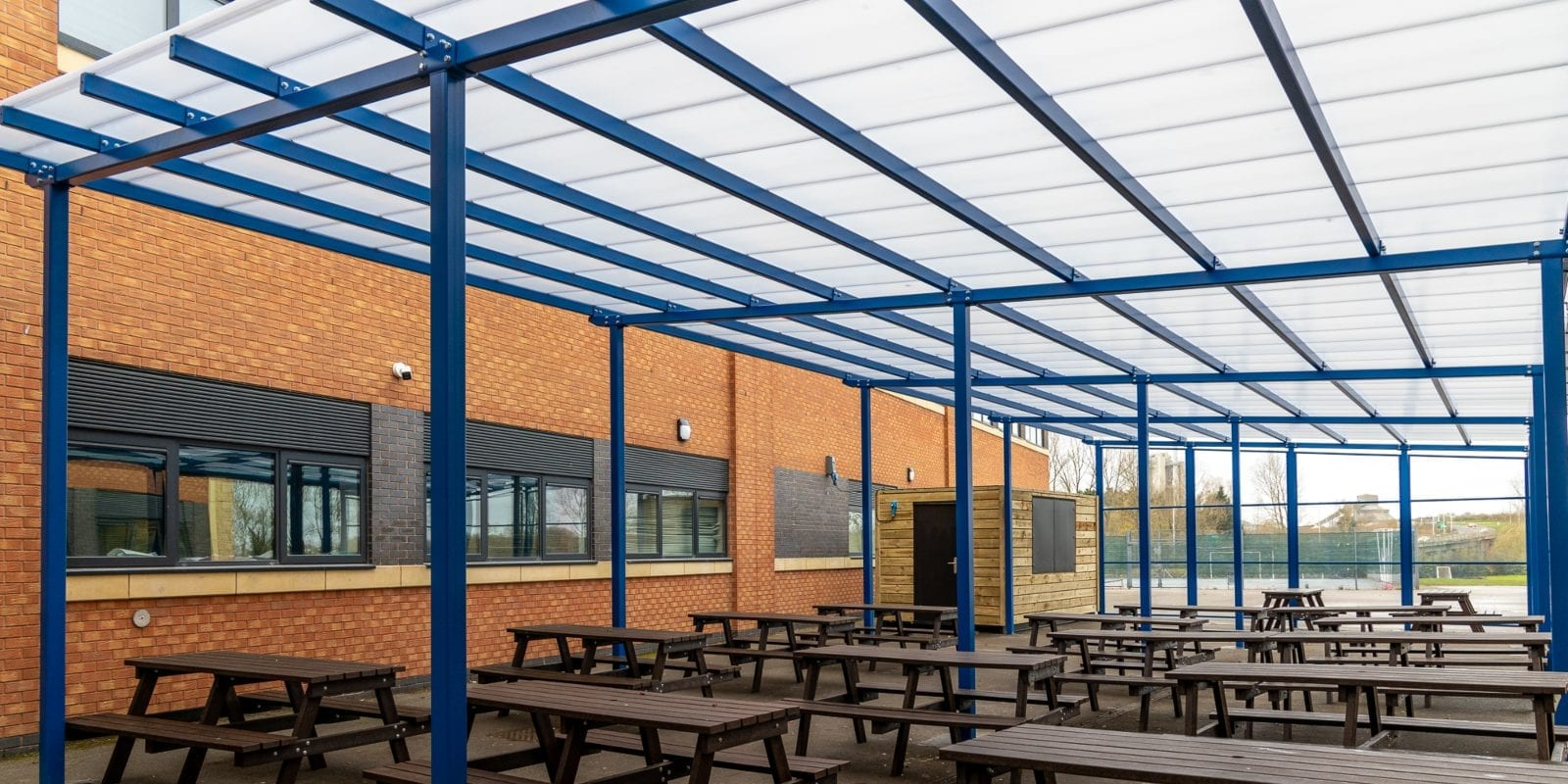 Covered dining area we added to Avon Valley School