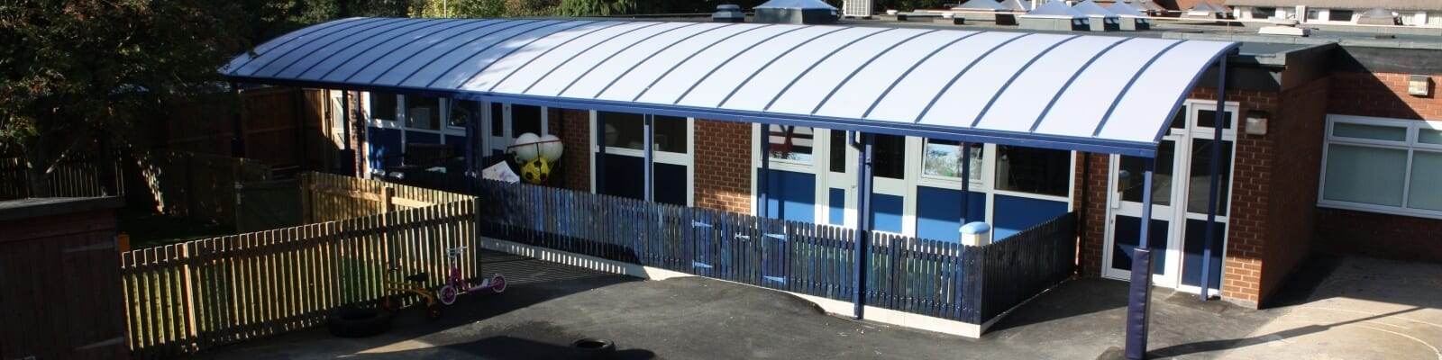 Playground shelter we made for Birkett House