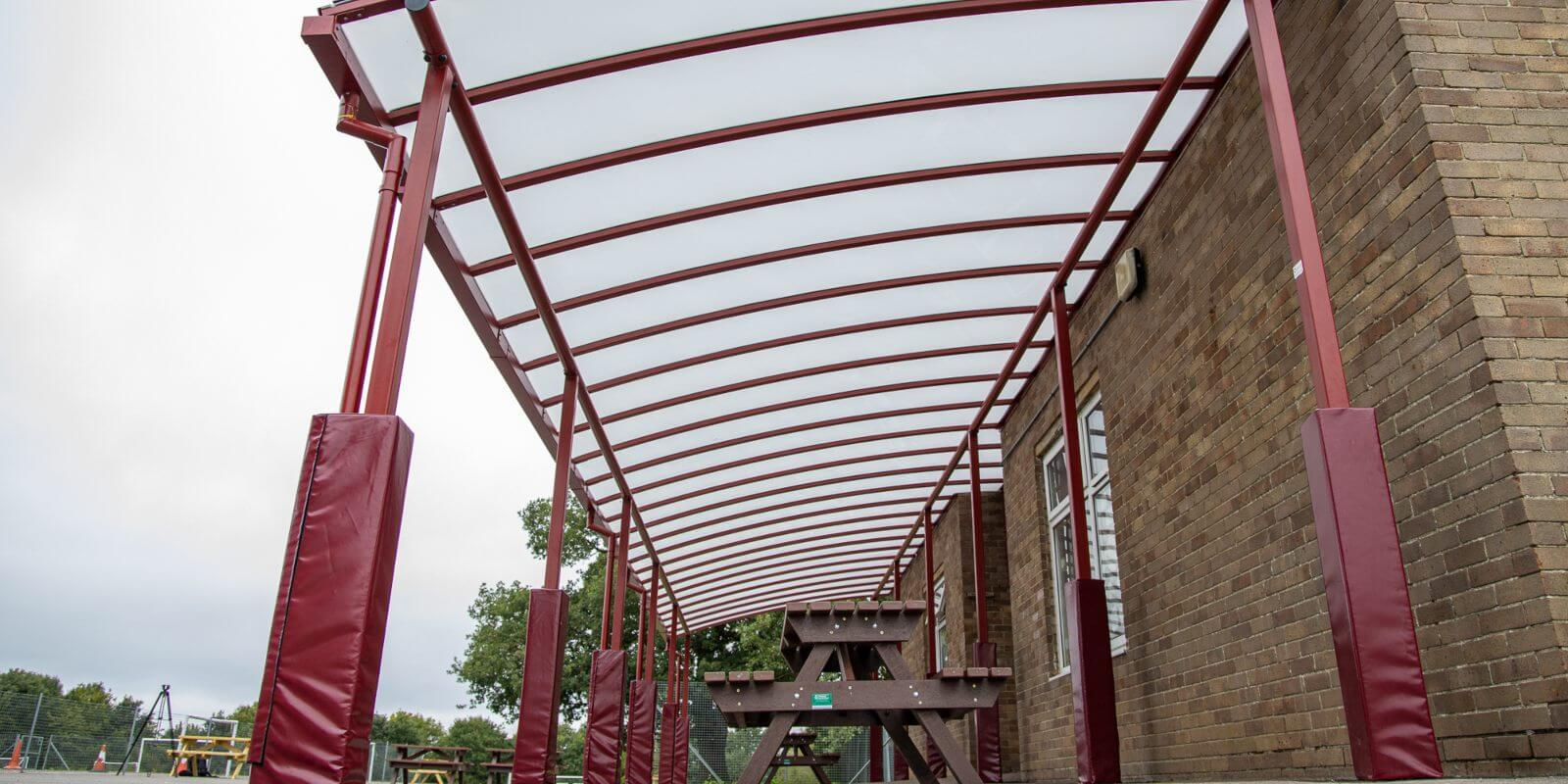Play area canopy we added to Covingham Park Primary School