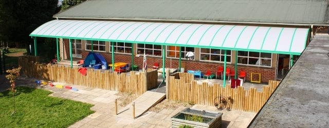 Playground Canopy we made for Ludlow Junior School