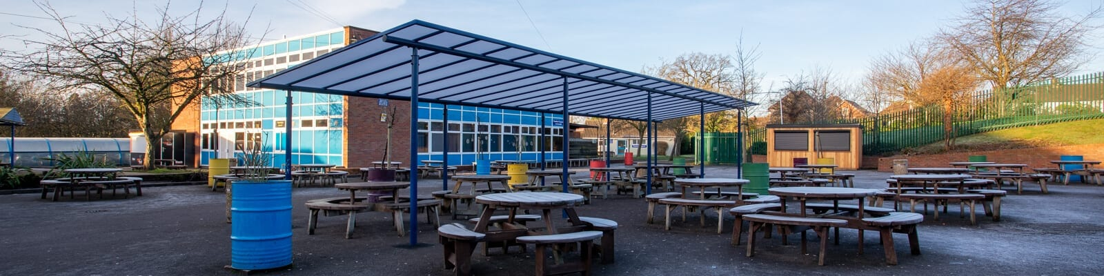 Dining Shelter we designed for Meole Brace School