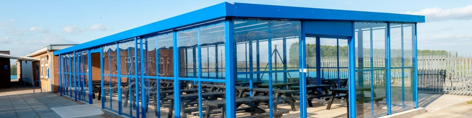 Outdoor Dining Shelter we made for Branston Academy