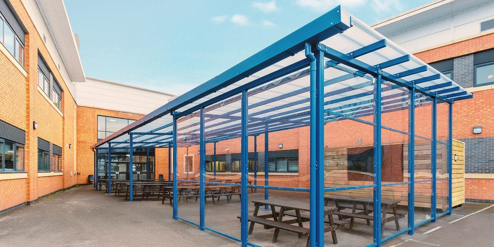 Enclosed shelter we made for Avon Valley School