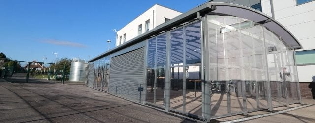 Enclosed shelter designed for St Cuthbert's School