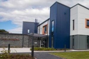 Entrance canopy we designed for Ysgol Y Garnedd