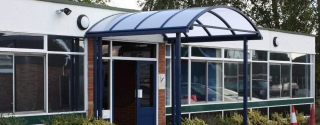 Entrance canopy we made for Burlish Park Primary School