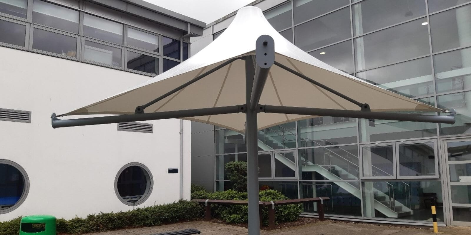 Fabric canopy we made for The Education Village