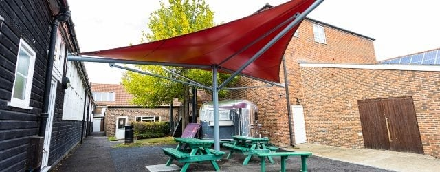 Fabric shelter we made for Hillview School for Girls