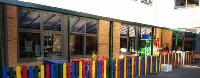 Playground canopy we made for Wheelers Lane Primary School