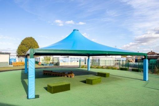 Playground tepee we designed for Hedgewood School