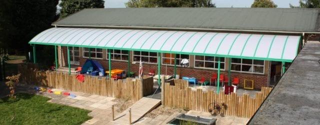 Playground canopy we designed for Ludlow Junior School
