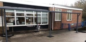 Playground shelter we made for Rubery Nursery School