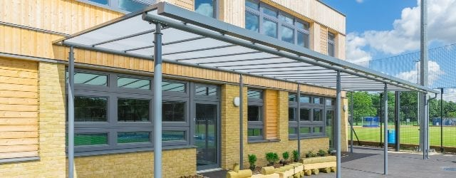 Play area canopy we made for Simon Balle All Through School