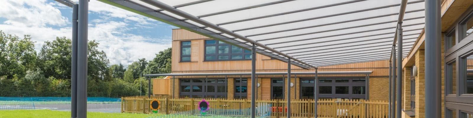 Playground canopy we made for Simon Balle All Through School