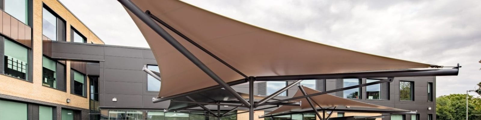 Fabric canopies we made for Hessle Academy