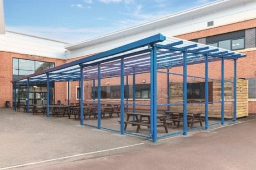 Shelter with sides we designed for Avon Valley School