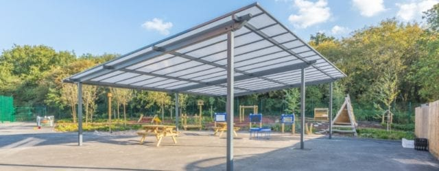 Playground canopy we designed for Millbrook Primary School