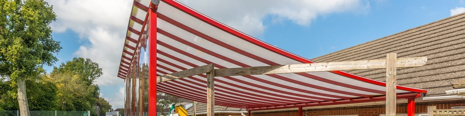 Playground canopy we installed at The Beacon School