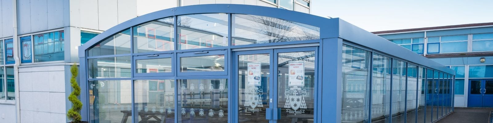Enclosed shelter we designed for St Wilfrid's High School
