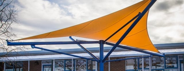 Playground canopy we designed for Paulton Infant School