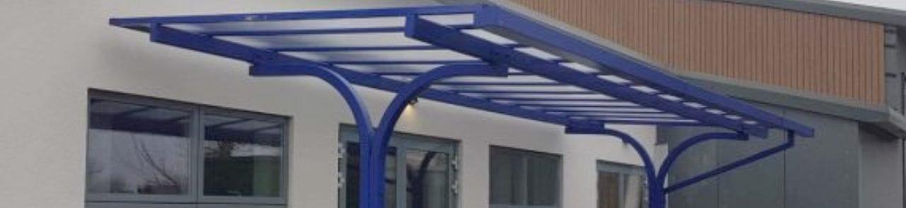 Straight roof shelter we designed for Hafod Y Wern