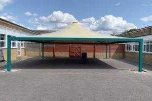 Tepee canopy we designed for Queen Eleanor Junior School