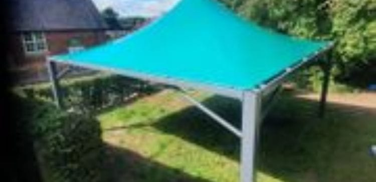 Fabric shelter we installed at Welshampton Primary School