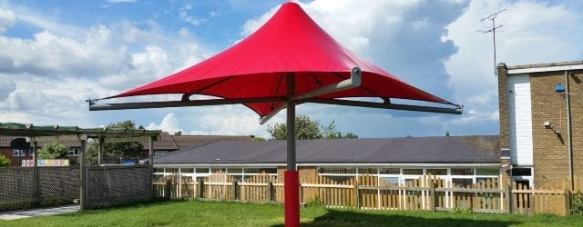 Playground shelter we designed for Someries Junior School