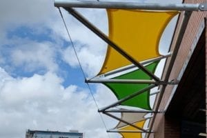 Bespoke fabric canopy we made for Redwood Park Academy