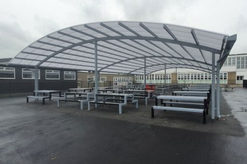 Dining canopy we fitted at John Taylor High School