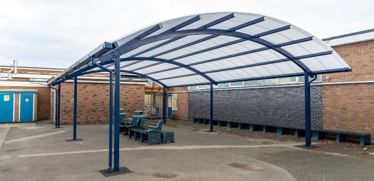 Dining shelter we designed for The Corbet School