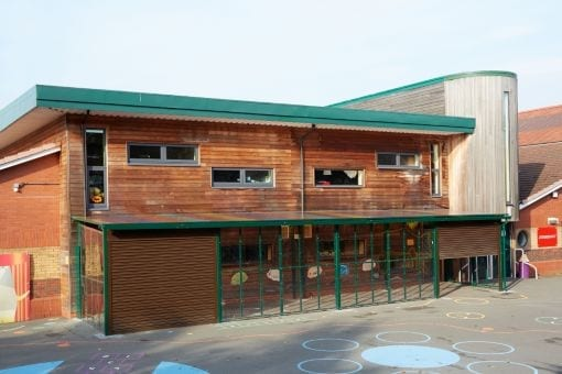 Enclosed canopy we installed at Forest Park School