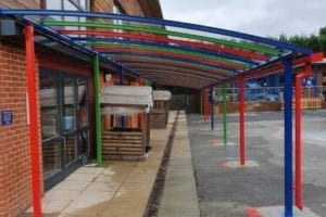 Playground shelter we installed at Danes Hill School