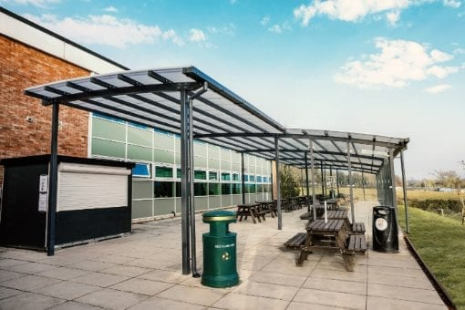 Bespoke shelter we designed for The Chantry School