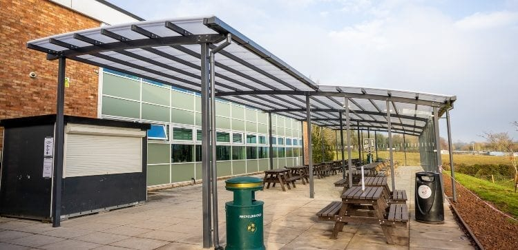 Dining Area Shelter we made for The Chantry School