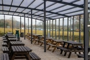 Dining space we designed for The Chantry School