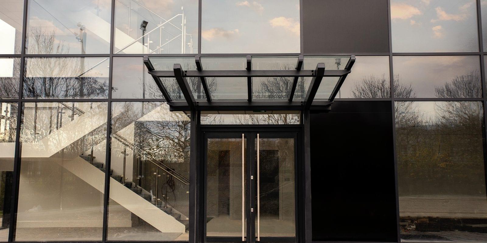 Door canopy we designed for Estuary Boulevard