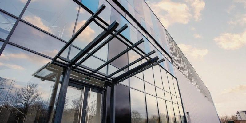 Entrance canopy we designed for Estuary Boulevard