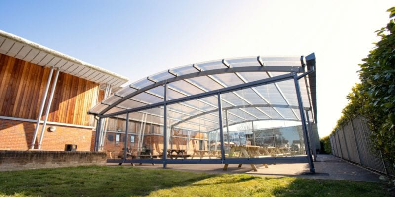 Canopy with sides we fitted at Lincroft Academy