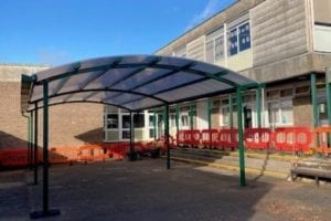 Dining canopy we designed for St Peter's High School